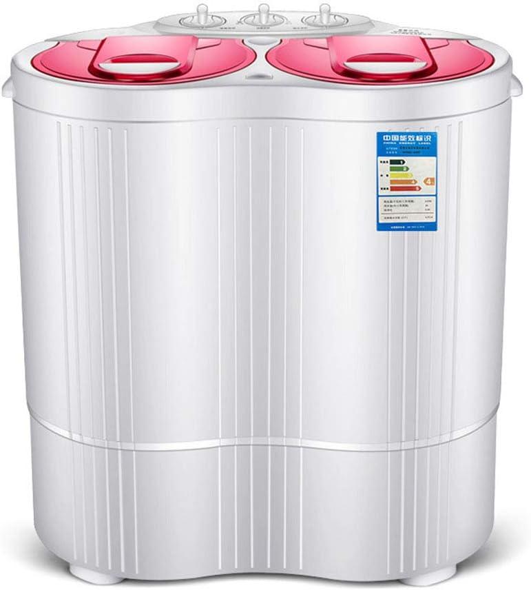 LK-HOME Mini Lavadora Lavadora Semiautomática De Doble Cubeta Y Cubeta De Deshidratación La Ropa De Limpieza Profunda No Daña La Ropa Adecuada para Apartamentos Y Hoteles