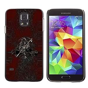 Caucho caso de Shell duro de la cubierta de accesorios de protección BY RAYDREAMMM - Samsung Galaxy S5 SM-G900 - Grim Reaper Death