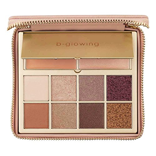 b-glowing Illuminate Shine Eyeshadow Palette 8 Matte and Shimmer Colors Brightening Eye Shadow Primer and Highlighter, Makeup for Mature Women, Neutral Eye Shadows for Brown, Blue and Green Eyes