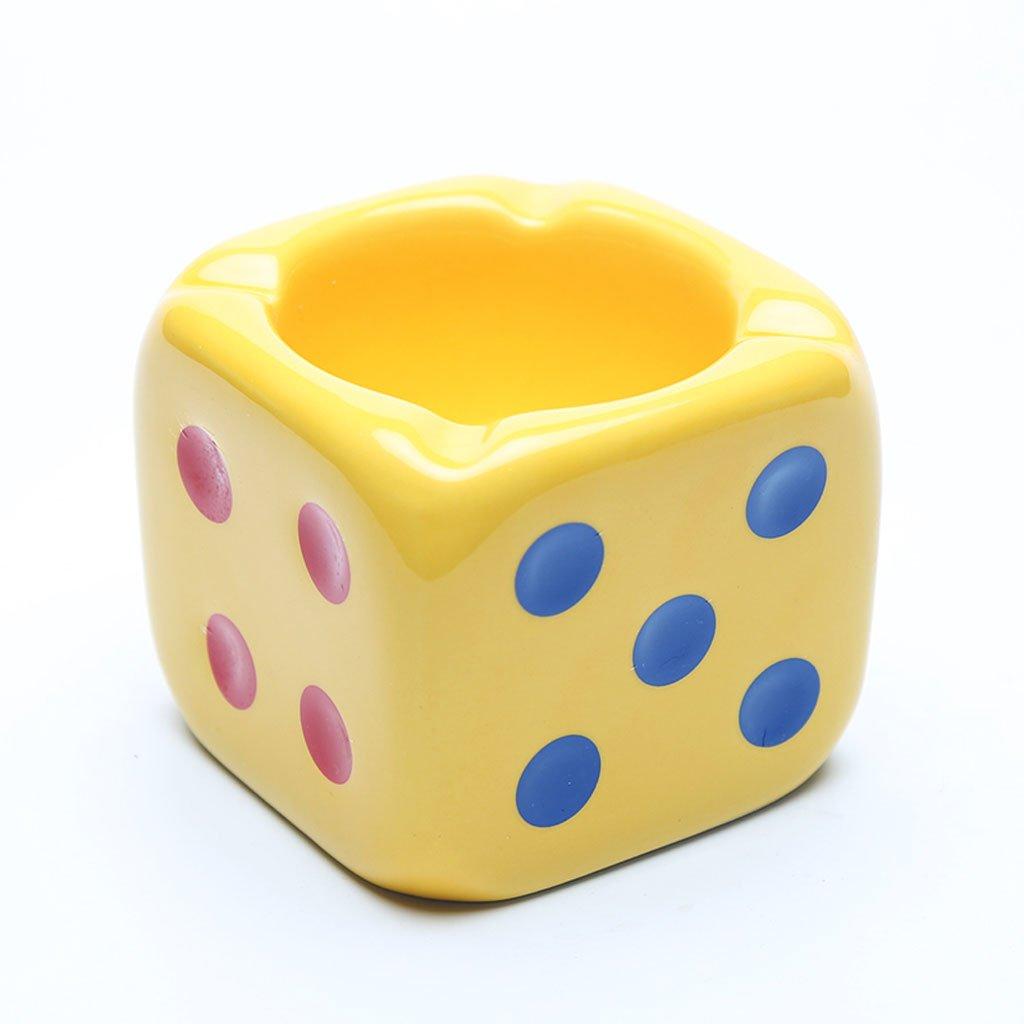 TLMY Simple Fashion Creative Personality Cute Scorpion Ashtray Mini Multi-Function Ceramic Ashtray Home Gift Decoration Ashtray (Color : Yellow)