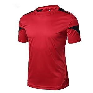 メンズ スポーツウェア スポーツウェア ランニングウェア パーカー デザイント レーニングウェア 通気防臭 ランニング シャツ レッド 加大XXXL