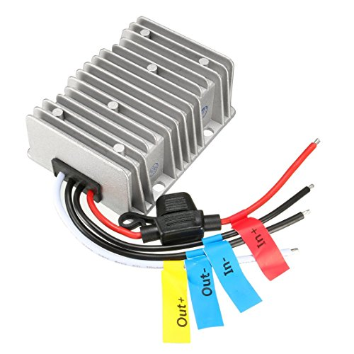 uxcell NEW Big-Size Waterproof DC 36V (28-50V) Step-down to 12V 30A 360W Car Power Supply Module Voltage Converter Regulator
