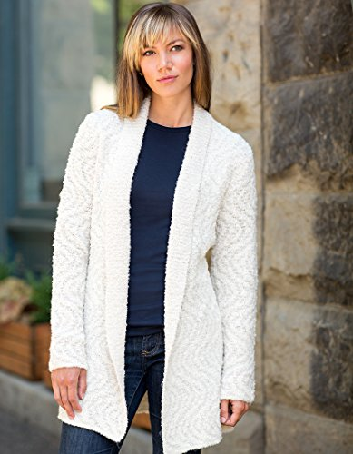 Invisible World Womens Alpaca/Pima Cotton Blend Womens Sweater Coat Cardigan Swirl - Medium by Invisible World (Image #1)
