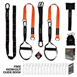 Vulken Suspension Trainer with Resistance Bands. CoreSlings Full Body Workouts with Multi Bodyweight Training Modes for Home Gym, Travel, and Outdoors. Including Workout Guide Book