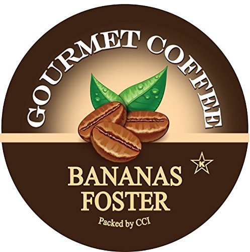 - Smart Sips, Bananas Foster Flavored Coffee, 24 Count, Single Serve Cups Compatible With All Keurig K-cup Brewers