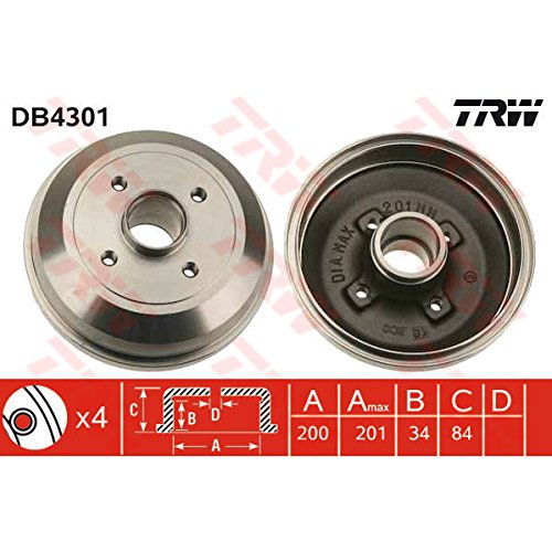 TRW DB4301 Brake Drums: