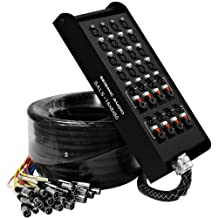 Seismic Audio-SALS-16x8x50-16 Channel 50-Feet Pro Stage XLR Snake Cable (XLR and 1/4-Inch TRS Returns) for Recording, Stage, Studio Use