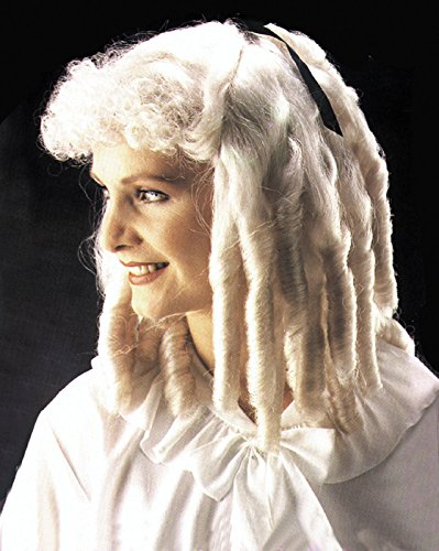 Wigs Times In Colonial (Loftus International Adult Star Power Colonial Times Ringlet Wig, White, One)