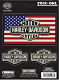 Best Shields With Flags - Harley Davidson Bar and Shield American Flag Decal Review