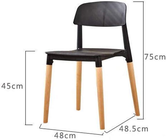 DAFREW Cenar sillas for la Cocina y el salón, de Mediados de Siglo Modernos sillas de Comedor con Patas de Madera (6 sillas) (Color : Yellow) White