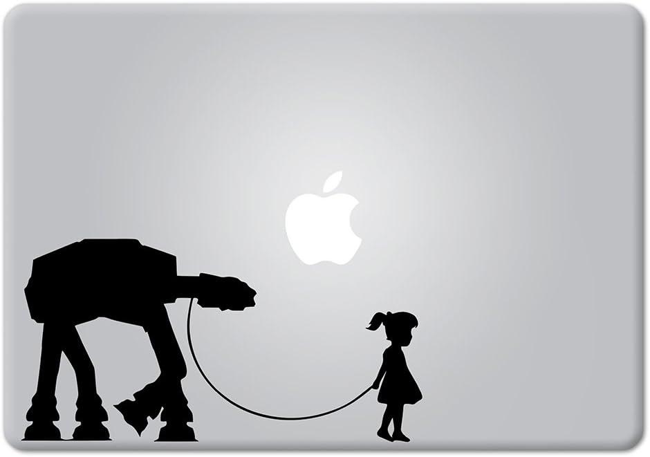 A Girl and Her AT-AT Walker Star Wars Apple Macbook Laptop Decal Vinyl Sticker Apple Mac Air Pro Retina