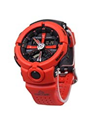 Casio Men's G Shock GA500P-4A Red Rubber Quartz Sport Watch