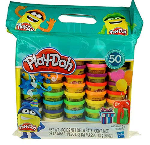Play-Doh Modeling Compound 50- Value Pack Case of Colors, Non-Toxic,