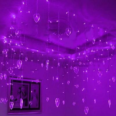 8 modes 8m X 0,75 m 192 Pcs LED 48 Pcs Coeur intérieur Partie ...