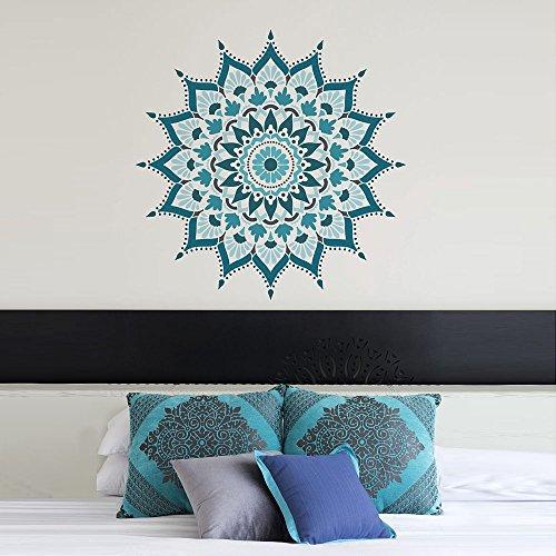 Mandala Stencil Radiance - Trendy Easy Beautiful DIY Wall Stencil Designs - Reusable Stencils for DIY Home Decor - By Cutting Edge Stencils (44'') by Cutting Edge Stencils (Image #2)