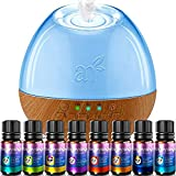 ArtNaturals Sound Machine Oil Diffuser and Top 8 Baby Essential Oils - (300ml Tank) - 6 Sounds - Aromatherapy and White Noise