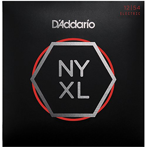D'Addario NYXL1254 Nickel Plated Electric Guitar Strings,Heavy,12-54 - High Carbon Steel Alloy for Unprecedented Strength - Ideal Combination of Playability and Electric Tone ()