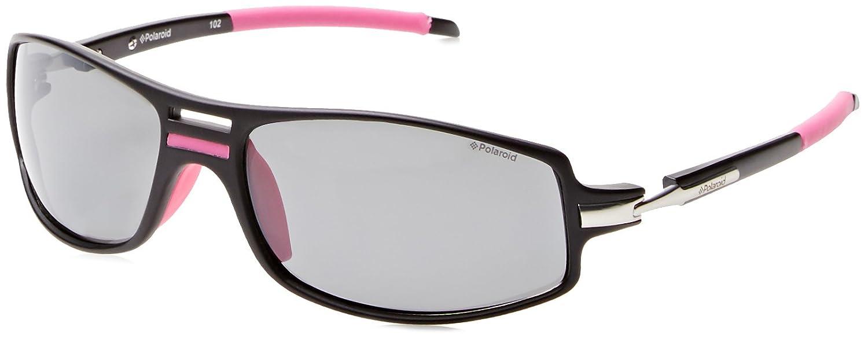 Polaroid P7307, Gafas de Sol Para Mujer, Multicolor (Negro/Rosa), 63 mm