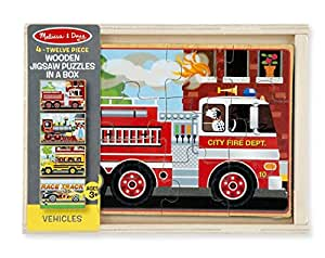 4 Melissa and doug Vehicles puzzles in a box