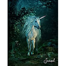 Journal: Unicorn Fantasy Journal - 100 Wide Rule Pages - Flexible Paperback Notebook