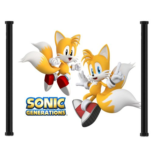Sonic Generations Game Fabric Wall Scroll Poster (44