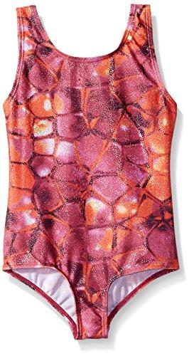 (Danskin Big Girls' Gymnastics Leotard, Pink Snake, Large (12/14))