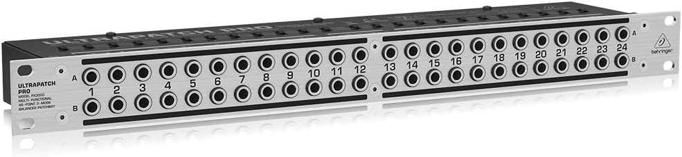 Behringer PX3000 Ultrapatch Pro 3 Mode Multi-Functional 48 Point Balanced Patchbay