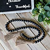 Wooden Bead Garland with Tassels Home