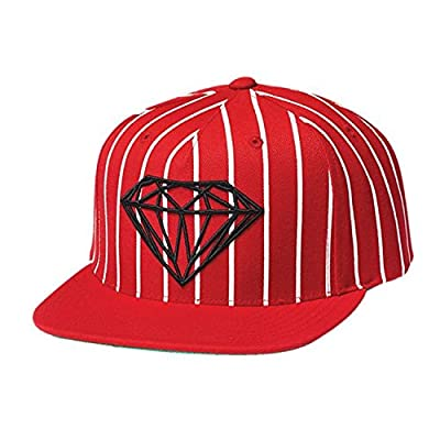 DIAMOND SUPPLY CO. Snapback Hat BRILLIANT PINSTRIPE RED/WHITE by Diamond Supply Co.