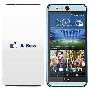 TECHCASE---Cubierta de la caja de protección para la piel dura ** HTC Desire Eye ( M910x ) ** --COMO BOSS DIVERTIDO FB