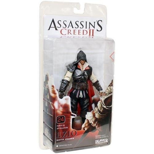 NECA Player Select Assassin's Creed 2 ASSASSIN'S CREED2 7 Inch Action Figure Ezio Auditore (black (Assassins Creed 2 Costume)