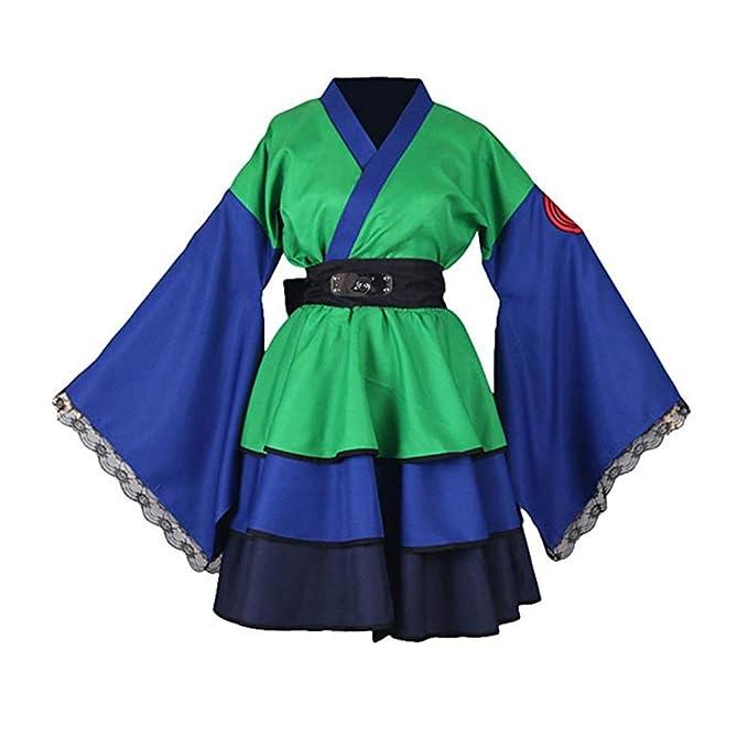 Naruto Shippuden Hatake Kakashi Konoha Ninja Female Lolita Kimono Dress Anime Cosplay Costume