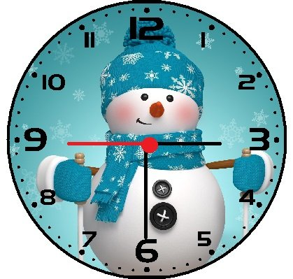 Snowman Christmas Wall Clock - cool winter wall art decor