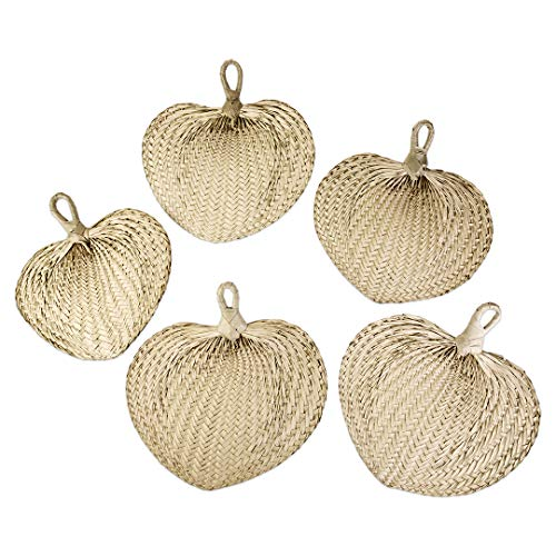 Wedding Favor Ideas For Summer - Koyal Wholesale Natural Raffia Hand Fans,
