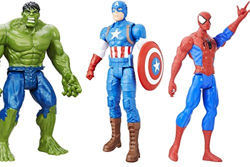 Batman Zero Year Costume (3 LOT Marvel Captain America, Hulk and Spider-Man Titan Hero Series Spider-Man Figure 12