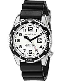 Men's Sports Watch | M50 Nylon Dive Watch by Momentum | Stainless Steel Watches for Men | Sapphire Crystal Analog Watch with Japanese Movement | Water Resistant (500M/1650FT) Classic Watch - Lume / 1M-DV52L1B