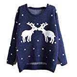 Product review for Taiduosheng Girls warm Ugly Christmas Sweater Print Reindee jumper Xmas Gift Pullover Knit sweater (Fit XS-L)