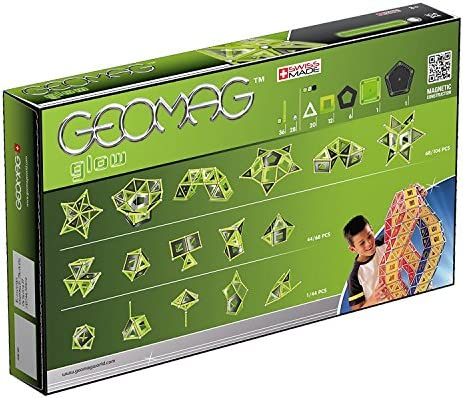 Geomag, Classic Glow 337, Magnetkonstruktionen und Lernspiele, Konstruktionsspielzeug, 104-teilig