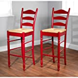30″ Ladder Back Stool in Red