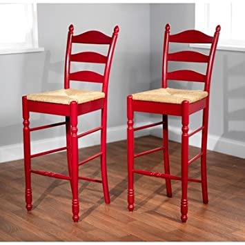 Surprising Tms 30 Ladder Back Stool In Red Unemploymentrelief Wooden Chair Designs For Living Room Unemploymentrelieforg