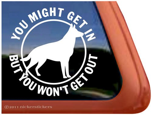 German Shepherd Protection Window Sticker