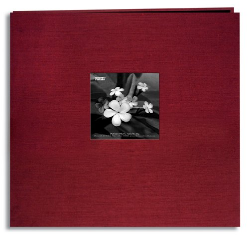 Pioneer 12 Inch by 12 Inch Postbound Silk Fabric Frame (Frame Memory Book)