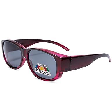 45cf9bfe51a8 EYEGUARD Fit over Sunglasses Lady Fashion Oval Rectangular Polarized  Glasses Women  Amazon.co.uk  Clothing
