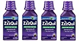 ZzzQuil Nighttime Sleep Aid, Warming Berry Liquid cHgzqy, 4Pack (12 Fl Oz)
