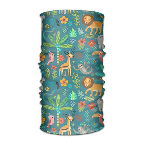 Imported Jungle Hat - QWDAS Cartoon Jungle Animal Fashionable Outdoor Hundred Change Headscarf Original Multifunctional Headwear