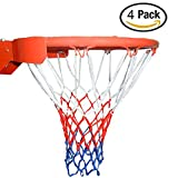 Arisingdeals 4 Pieces Professional Basketball Net All-Weather Heavy Duty Indoor Outdoor Net( 12 Loops )