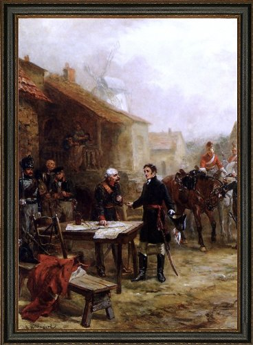 Robert Alexander Hillingford Wellington and Blucher Meeting Before The Battle of Waterloo - 18.05