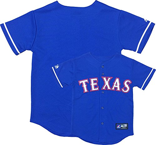 Texas Rangers Word Mark Blue Infants Toddler Authentic Alternate Jersey (18 Months)