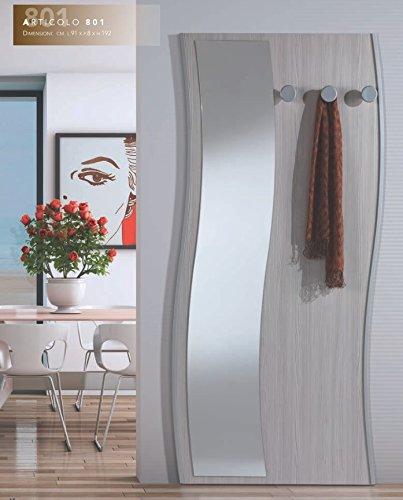 Attaccapanni Parete Con Pannello.Arredaweb Pannello Per Ingresso Mod 801 Con Specchio E Tre Pomoli