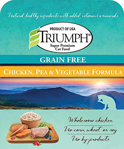 486106 Triumph Grain Free Recipe Cat Food Chicken, 3 lb, 1Piece